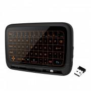 H18 + 2.4 ghz mini teclado inalambrico raton de aire con touchpad blacklit