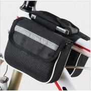 Dvojitá taška na stredový rám bicykla