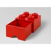 CUTIE DEPOZITARE LEGO 2X2 CU SERTAR, ROSU - LEGO (40051730)
