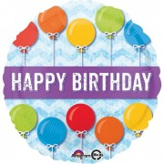 Balon folie 45 cm Happy Birthday baloane