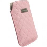 Krusell Avenyn Mobile Pouch 3XL - кожен калъф за Samsung Galaxy S3, S3 Neo, S4, HTC One, Moto G, Xperia Z1, Z1 Compact и др. (розов)