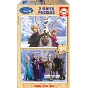 Puzzle din lemn Educa - Frozen, 2x50 piese (16163)