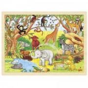 Дървен пъзел Африка Goki, 871088