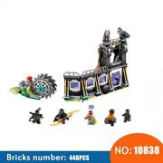 Generic 10838 Super Hero Models Building Toy Corvus Glaive Thresher Attack Building Blocks Compatible with 76103 Toys for Children
