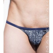 Mategear Nam Woo Thin Nylon Printed Signature Series Sexy Mini Bikini Underwear Denim 2061205