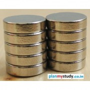 Neodymium N52 Grade Super Strong Magnet 12x3 mm Type Cylindrical Set of 10