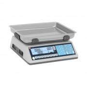 Price Computing Scale - trade-approved - 15 kg / 5 g - dual LCD