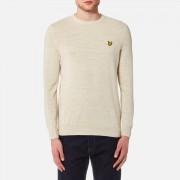 Lyle & Scott Men's Crew Neck Cotton Linen Knitted Jumper - Oatmeal Marl - XL - Brown
