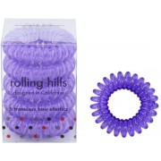 Rolling Hills Professional Hair Rings Transparent Purple Flower Haargummi