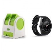 Air conditioner Mini cooler and V8 Smart Watch comaptiable with all Smart phone || Mini cooler|| Mini Air conditioner || Mini AC || Portable Fan|| Mini fresh Air cooler || High speed cooler
