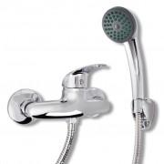 vidaXL Комплект смесител с душ, хром