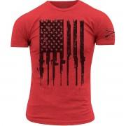 Grunt Style Grognement Style R.E.D. fusil drapeau Crewneck T-Shirt-rouge