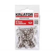 KREATOR Alumínium ponyvakarika készlet (KRT616103) - 4 mm/100 db