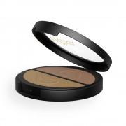 Inika Organic Sombra de ojos dúo mineral en polvo compacto - Gold Oyster
