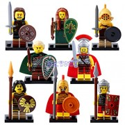 Generic DR.Tong Medieval Castle Knights Blue King Knight Bule Lion Golden Dragon Heavy Shield Building Blocks with Weapon Gift Toys X0137