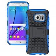 Capa Híbrida Antiderrapante para Samsung Galaxy S7 - Preto / Azul