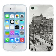 Husa iPhone 4S Silicon Gel Tpu Model Vintage City