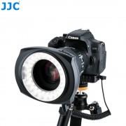 JJC DSLR Camera Macro Ring Licht Binnen/Buiten Half Hele LED Flash Video Speedlite Voor NIKON CANON SONY PENTEX met Stap Ring