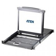 Aten Switch KVM USB-PS2 VGA 8 Porte con LCD 17'' e Porta USB, CL5708M