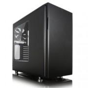 Кутия Fractal Design Define R5 Blackout Edition Window, ATX/Micro-ATX/Mini-ITX, 2x USB 3.0, прозорец, черна, без захранване