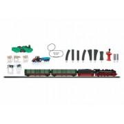 Trenulet electric Ferma cu 1 locomotiva cu abur 2 vagoane si circuit sine Marklin