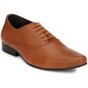 Delize Men's Tan Lace-up Smart Formals Formal Shoes