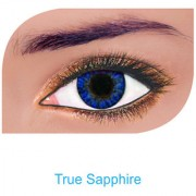 FreshLook Colorblends Power Contact lens Pack Of 2 With Affable Free Lens Case And affable Contact Lens Spoon (-0.75True Sapphire)