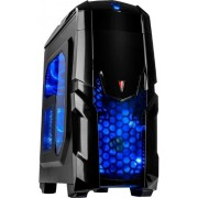 Carcasa Inter-Tech Q2 Illuminator Blue (Negru)