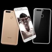 Wigento Silikoncase transparent 0,3 mm ultra tunt case för Huawei honor 8 per väska täcker nya