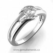Zásnubní GEMS Luxusní prsten s diamanty Julie, bílé zlato 386-0151