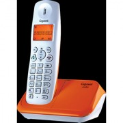 3b358d0a655 Gigaset A450 White orange cordless landline phone