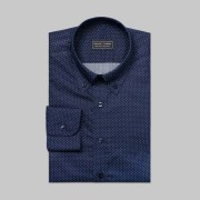 Tailor Store Marin/vitprickig button-downskjorta