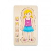 Puzzle Stratificat Educativ Din Lemn - Sectiunile Corpului Uman 29 x 16 7 x 2 cm Fata