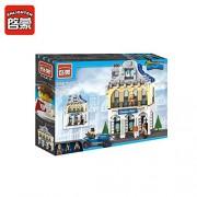 ENLIGHTEN 628pcs City Series Sun Hotel Model Building Blocks Bricks Assembling Toys Construction Gift Compatible With Legoe (1127)