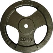 Диск за щанга 20 кг. Ø25 мм. с дръжки