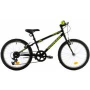 Bicicleta copii Dhs Terrana 2021 negru verde 20 inch