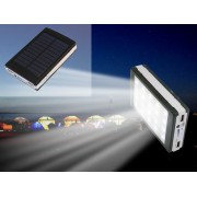 Baterie Externa Power Bank cu incarcare solara 20.000 mAh pentru telefoane, laptop