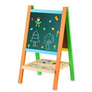 BATTOP Multifunctional Drawing Board Artist Easel With Magnetic Alphebet and Numbers Two-Sided Feature