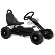 vidaXL Pedal Go-Kart with Pneumatic Tyres Black