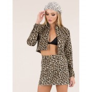 CheapChic Wild Thang Cropped Leopard Jacket Leopard