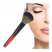 5 PC Mango De Madera Suave Cabeza Buffer Foundation Powder Blush Brush Makeup Tools (vino Tinto)