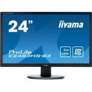 Iiyama E2483HS-B3 LED-monitor 61 cm (24 inch) Energielabel A (A++ - E) 1920 x 1080 pix Full HD 1 ms HDMI, DisplayPort, VGA, Hoofdtelefoon (3.5 mm jackplug) TN