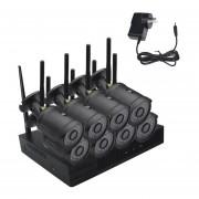 8CH Wireless WiFi Hogar Sistema De Cámaras De Seguridad CCTV Vigilancia Kit H.265