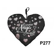 Díszpárna szív P277 Szeretlek Anya - Díszpárna