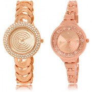 The Shopoholic White Rose Gold Combo New Collection White And Rose Gold Dial Analog Watch For Girls Women Watches Belt