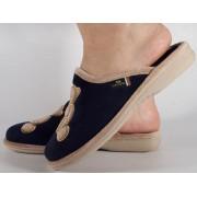 Papuci de casa bleumarin din plus dama/dame/femei (cod PATTY)
