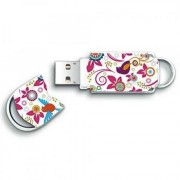 Memorie flash Integral USB Xpression 8GB, model flori si pasari