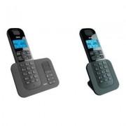 AEG Phone - Téléphone fixe avec répondeur Voxtel D505 Duo - Noir