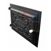 Porta de ferro grande para forno