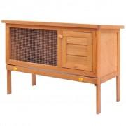 vidaXL Outdoor Rabbit Hutch Small Animal House Pet Cage 1 Layer Wood